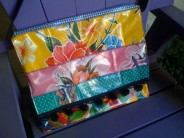 Oilcloth Patchwork Messenger Bag