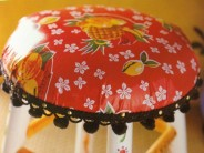 Juicy & Fruity Oilcloth Barstool