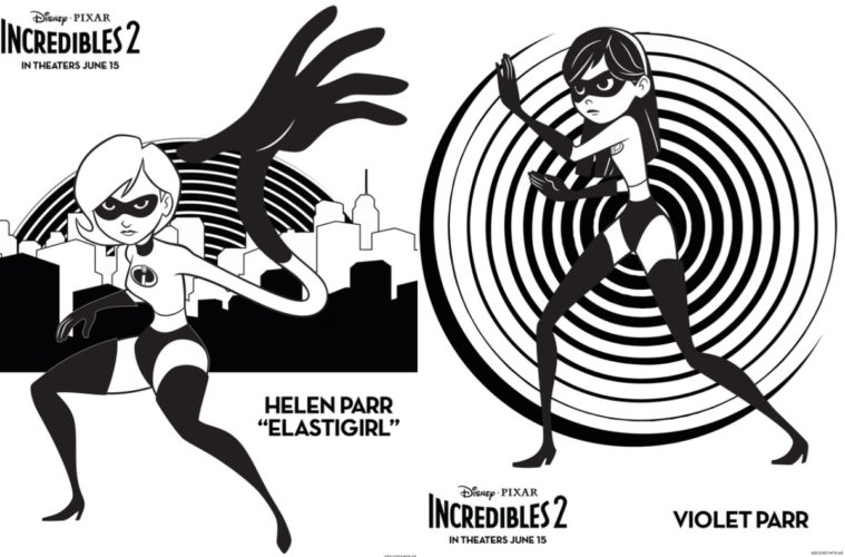 The Incredibles Elastigirl Coloring Pages Bltidm