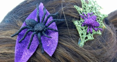 Glittered Insect Hair Clips