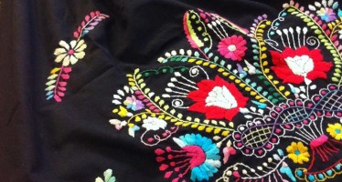How to Transform a Mexican Embroidered Dress into a Top