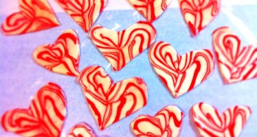 Candy Cane Hearts DIY
