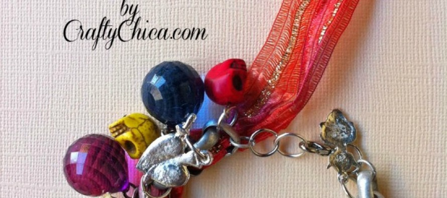 VIDEO: Dia de Los Muertos Ribbon Bracelet Tutorial