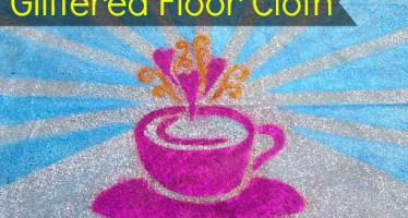 Glittered Floor Cloth