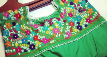 Mexican Embroidered Blouse-turned-Purse