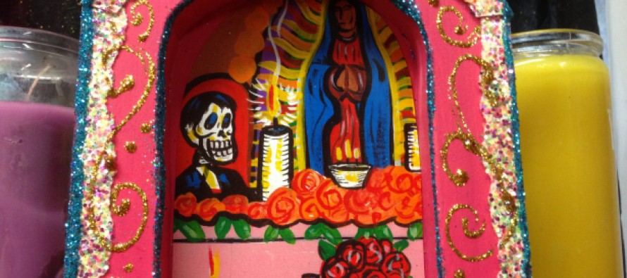 Dia de Los Muertos: Wood Shrine Base