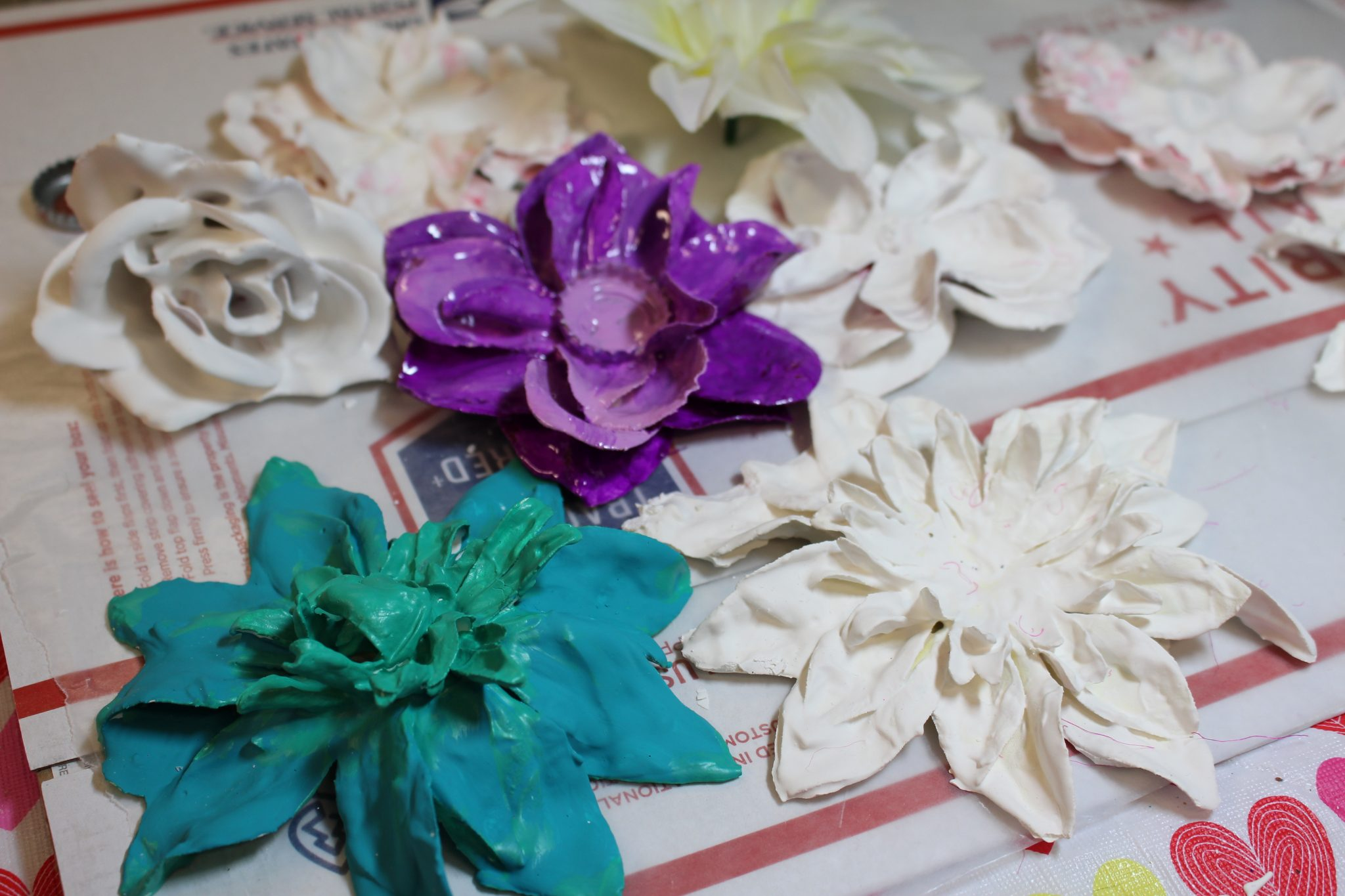 How To Make These Stunning Plaster Dipped Flowers The Crafty Chica