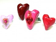 Sculpted Heart Rings
