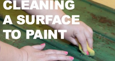 How to prep a surface for painting with Tide Oxi (Giveaway too!)