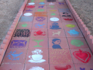 Paved & Stenciled Walkway