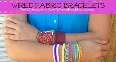 Wired Fabric Bracelets