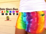 DIY Rainbow Shorts