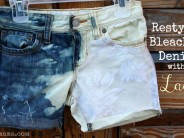 Bleached Shorts with Lace by Pearmama