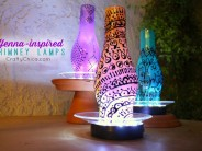 Painted Chimney Lamps