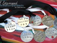 Metal-Stamped Affirmation Pendants GIVEAWAY!