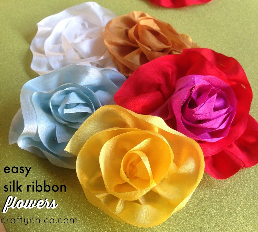 Easy silk ribbon flowers the crafty chica easy silk ribbon flowers by crafty chica mightylinksfo