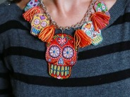 Sugar Skull Necklace by Aunt Peaches