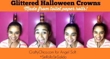 Toilet Paper Roll Craft: Glittered Halloween Crowns