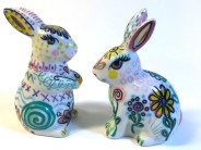 Doodled Bunnies Salt & Pepper Shakers