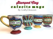 Stamped Clay Mugs