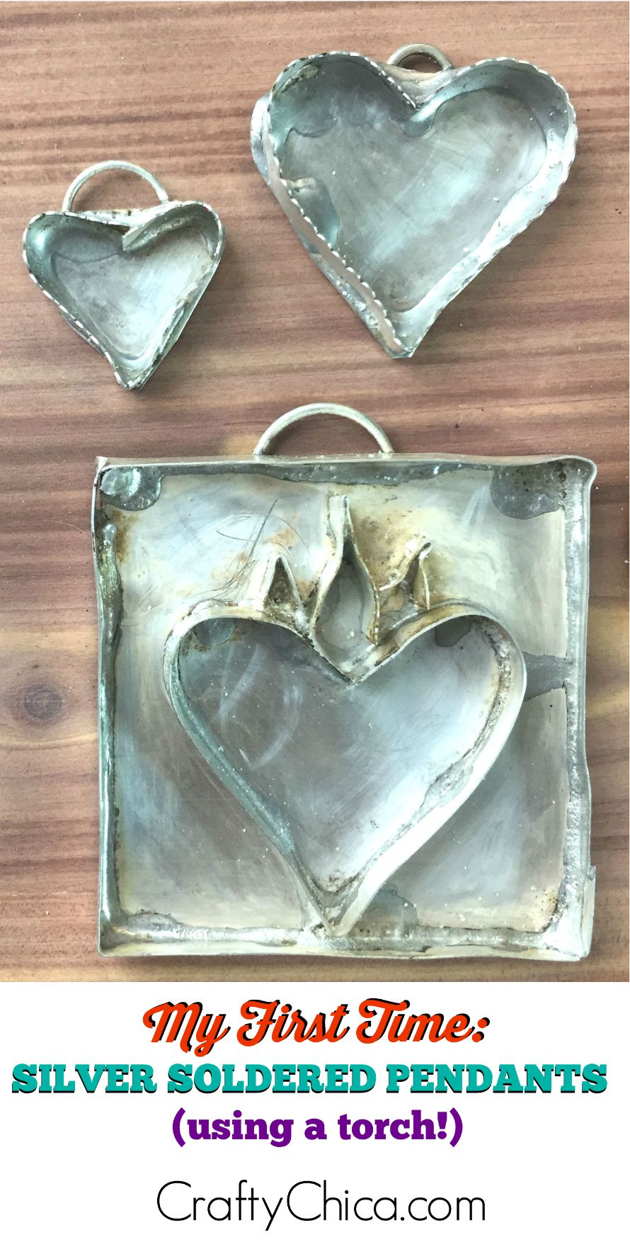 Soldering silver bezels w a torch the crafty chica silver pendants long aloadofball Images