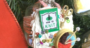 Frosted Ornaments w/ Miniatures