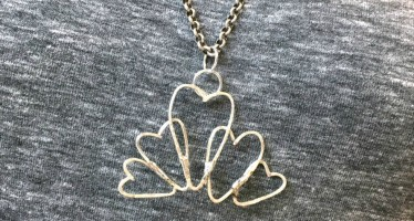 Soldered Wire Heart Necklace