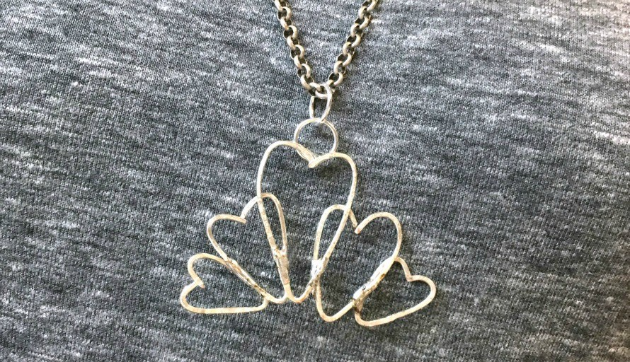 Soldered Wire Heart Necklace - The Crafty Chica