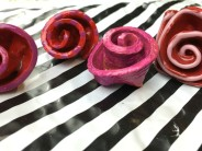 Polymer Clay Rose Rings