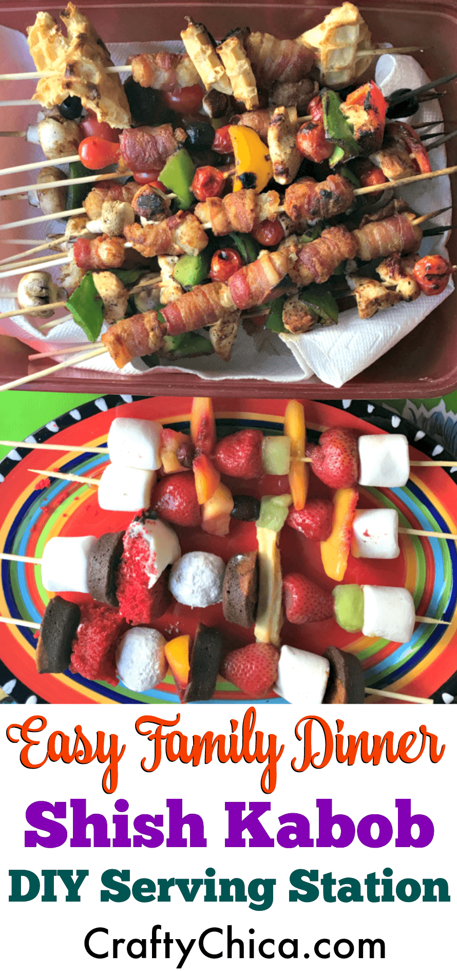 How to have a fun shish kabob night for dinner, by CraftyChica.com