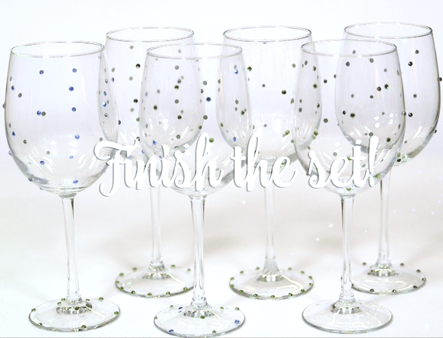DIY Crystal Wine Glasses by Crafty Chica.
