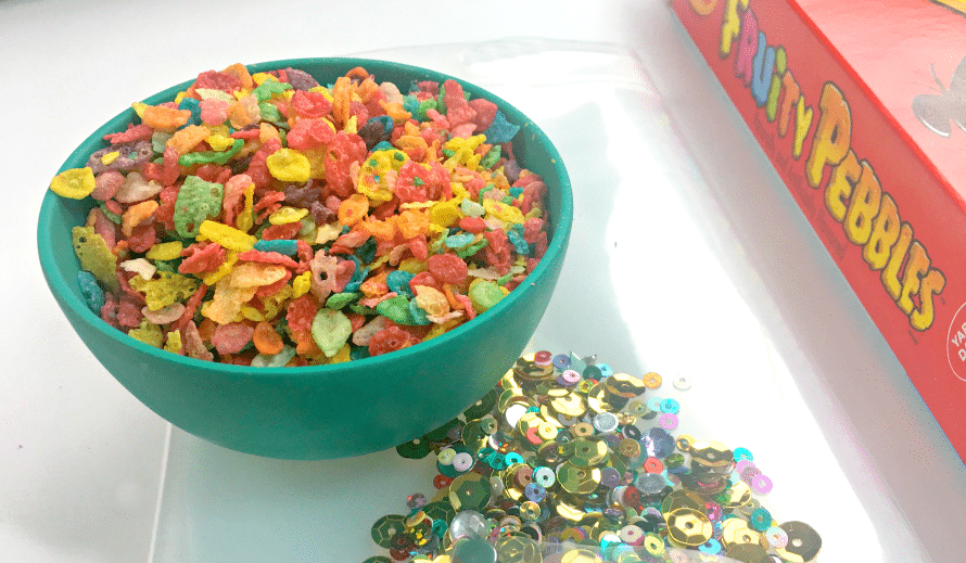 Fruity Pebbles Craft - make a vinyl pouch.