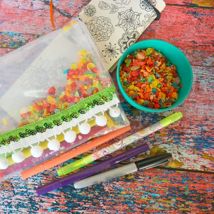Fruity Pebbles Craft - make a vinyl pouch by Crafty Chica.