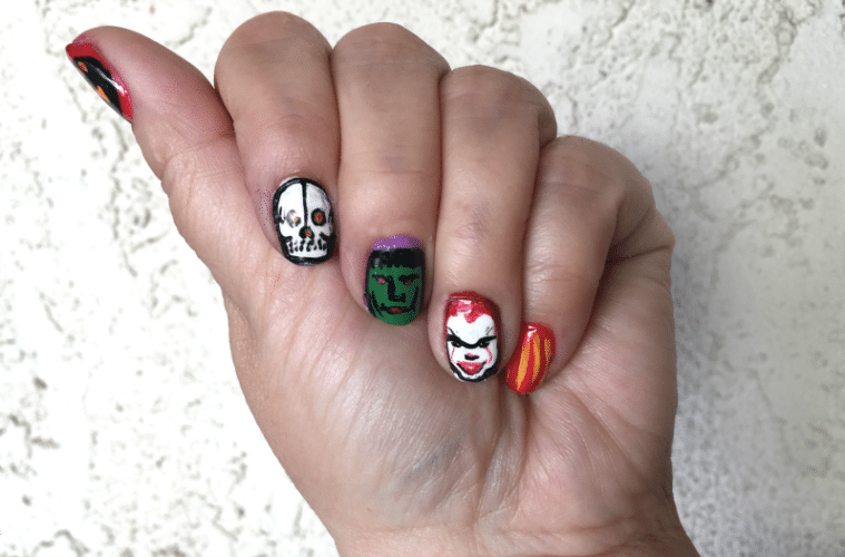 Pennywise And More Halloween Nail Art Diy The Crafty Chica