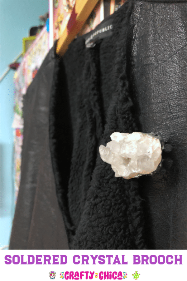 soldered quartz brooch