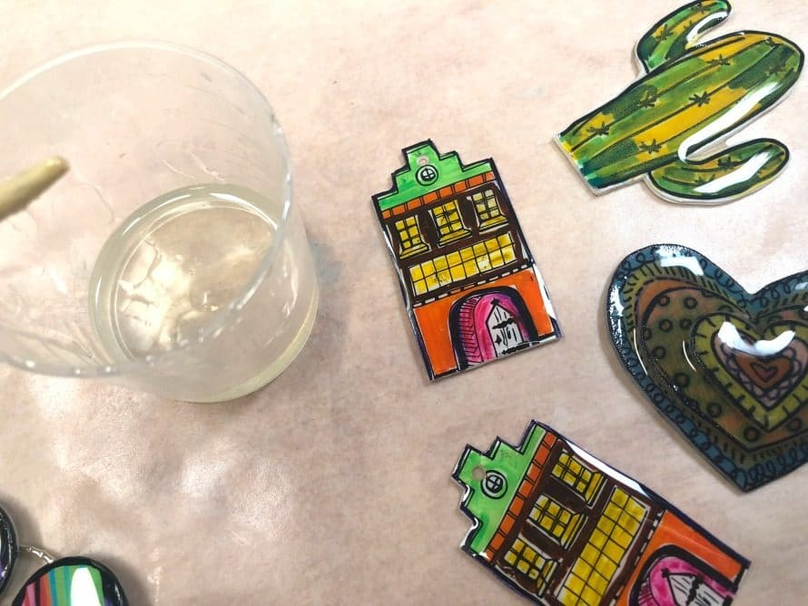 Resin in progress