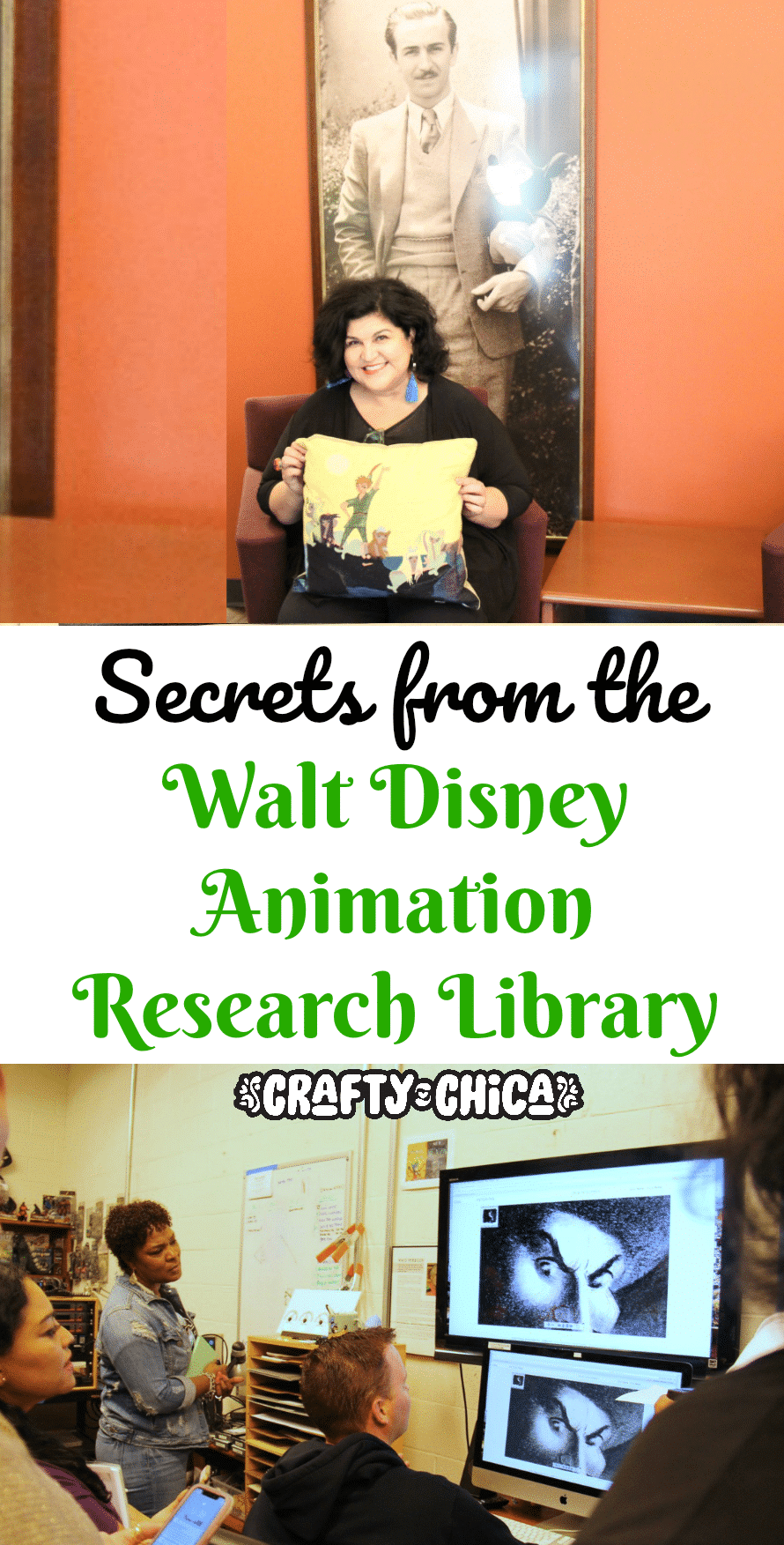Crafty Chica at Disney Animation Research Library.