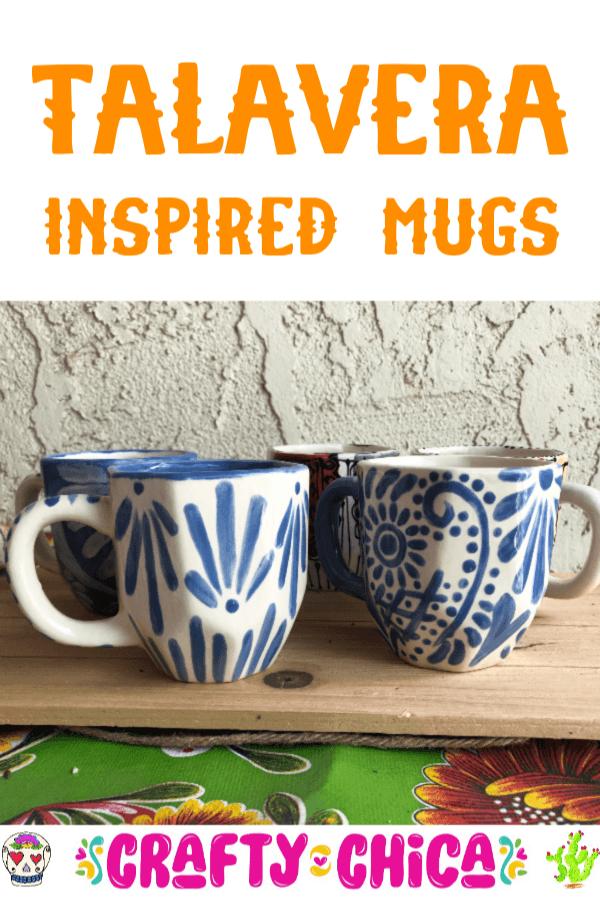 How to paint Talavera-inspired mugs! #craftychica #pyop #talavera #handpaintedmugs