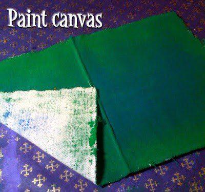 DIY Glittered Fabric, step one. #craftychica #glitterideas