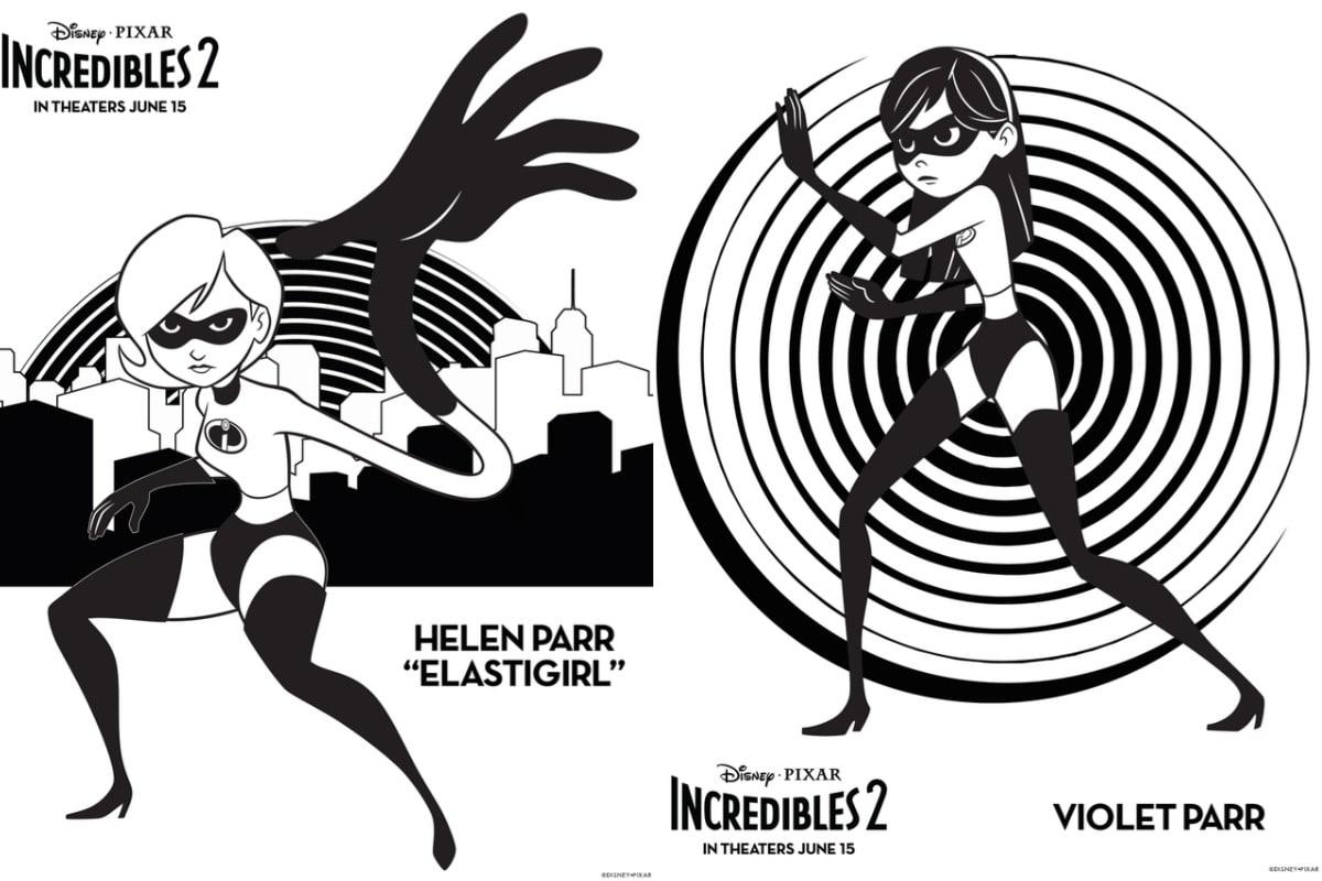 Incredibles 2 crafts printables