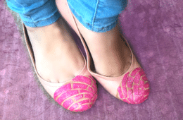 DIY concha shoes by Crafty Chica