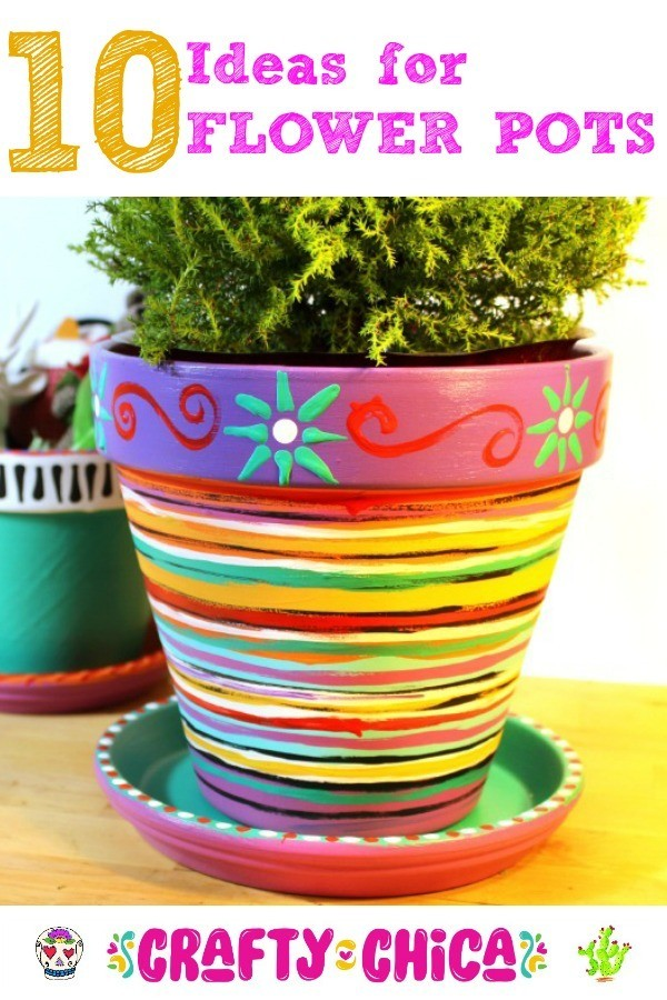 Spring is here which means it\u0027s time to bust out the terra cotta flower pots and get crafting. These planters are one of my all-time favorite substrates ...  sc 1 st  The Crafty Chica & 10 Flower Pot Crafts - The Crafty Chica