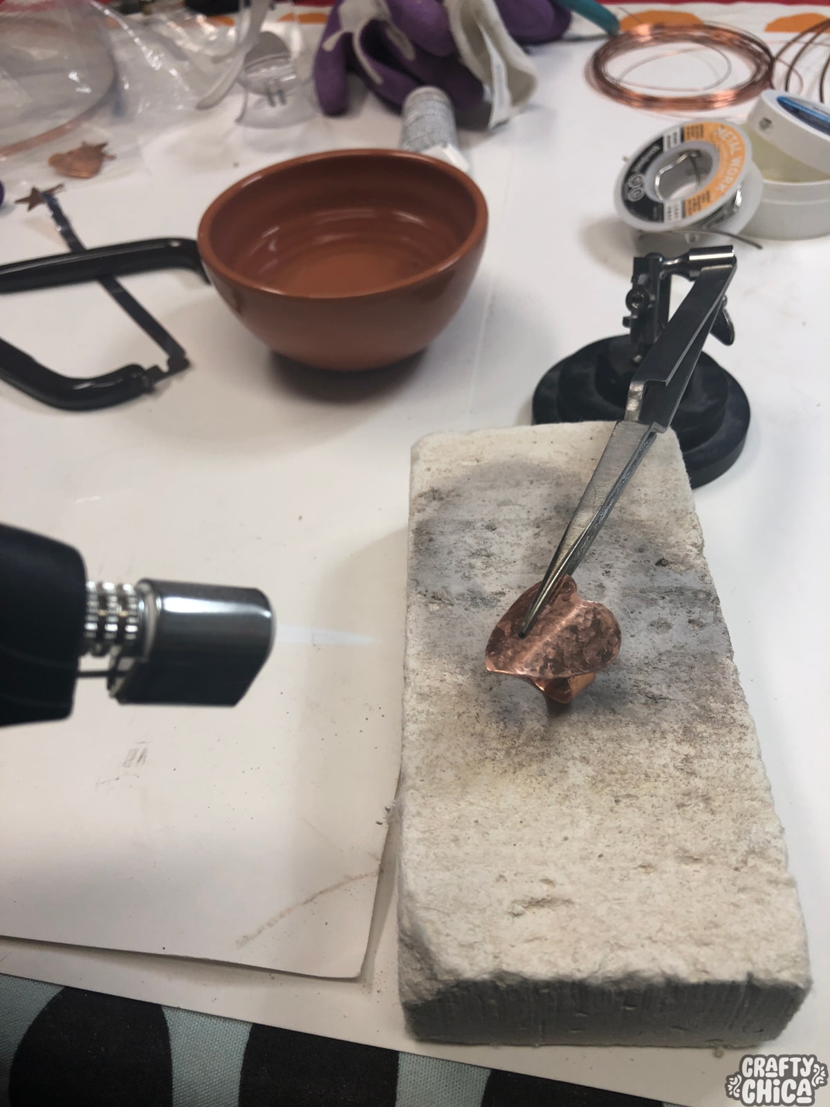 Torched Copper Rings tutorial