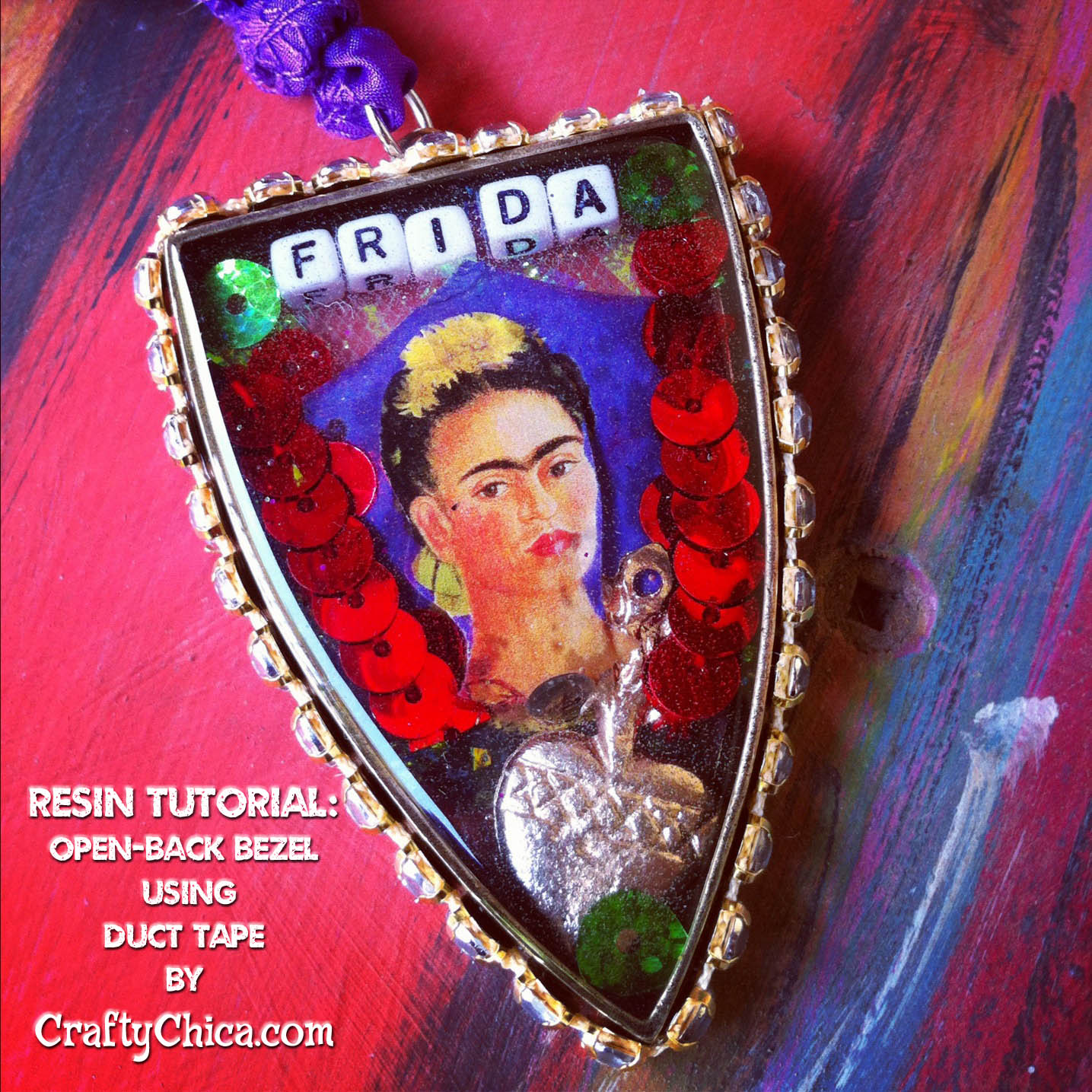 Resin pendant tutorial - open backed, CraftyChica.com