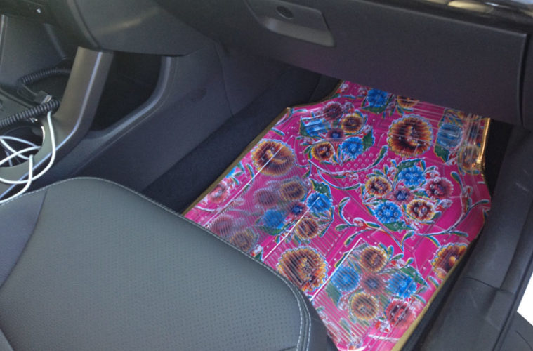 How To Make Oilcloth Car Mats The Crafty Chica