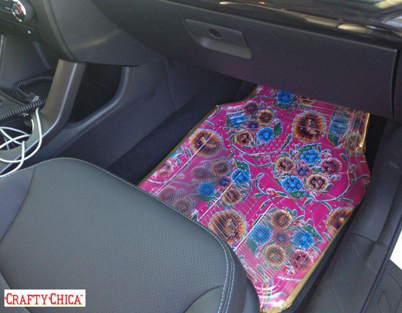 Car Won T Start >> How to make oilcloth car mats - Crafty Chica™