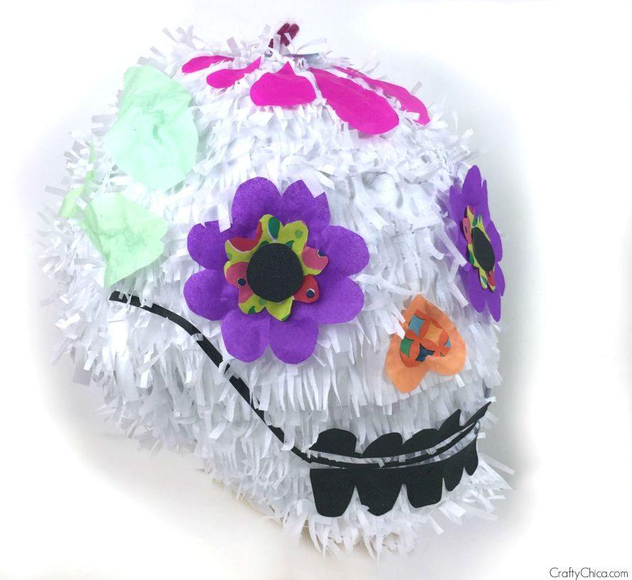 How to make a sugar skull piñata by craftychica.com