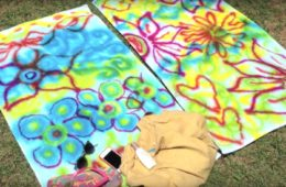tie-dye beach towel by Crafty Chica.