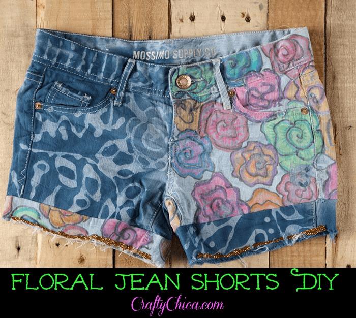 floral-jean-shorts
