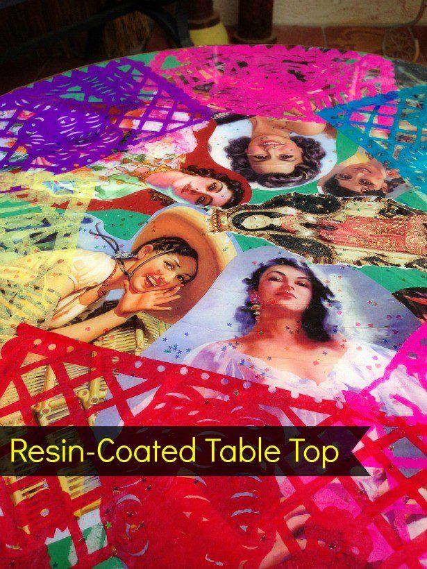 Resin table top tutorial